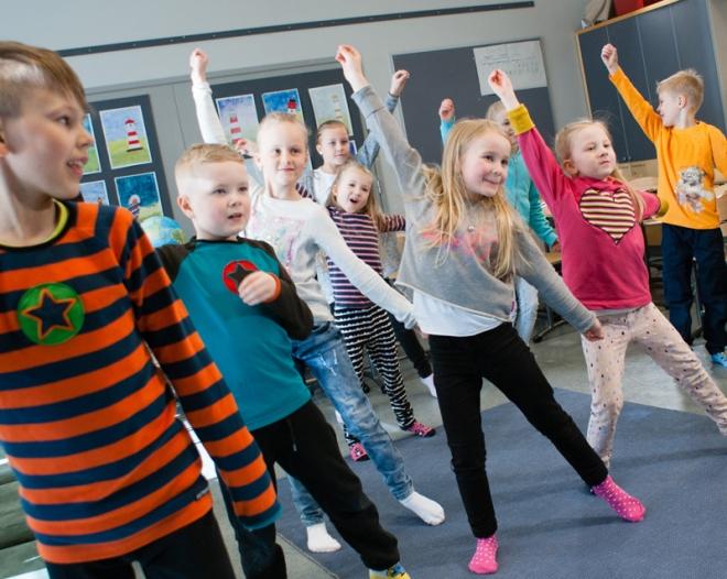 Kempeleen alakouluissa luodaan aktiivisuutta edistävää kulttuuria