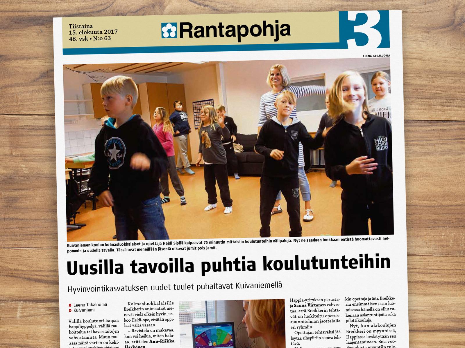 Kuivaniemi ensimmäinen Breikkeri-koulu – lue Rantapohjan juttu!